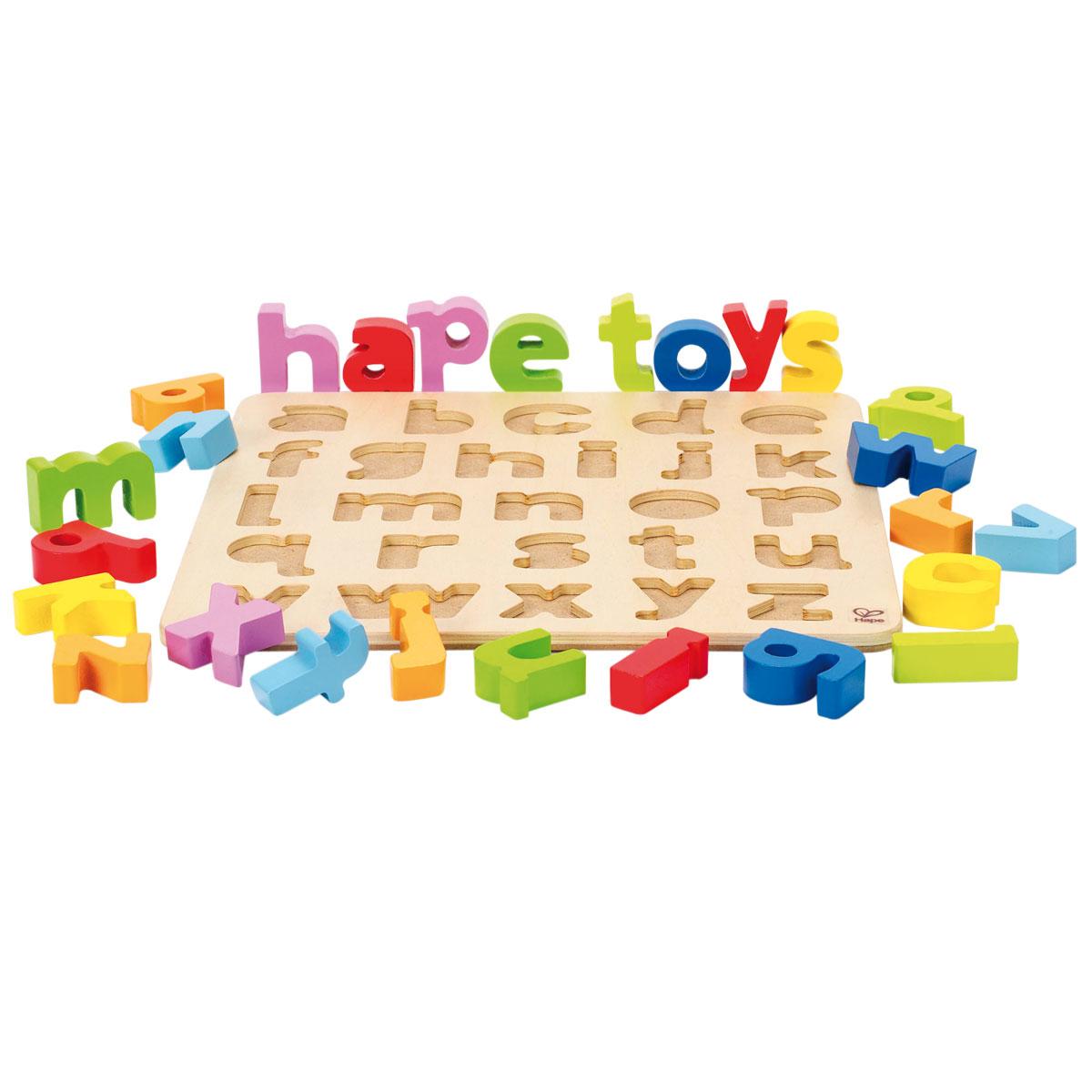 hape steckpuzzle alphabet puzzle aus holz f r kinder ebay. Black Bedroom Furniture Sets. Home Design Ideas