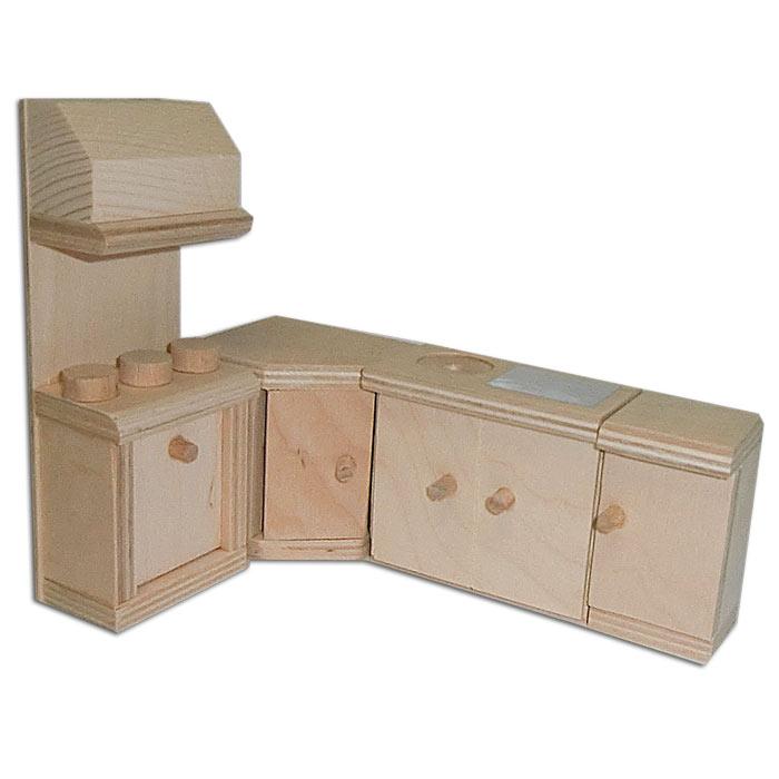 plaho puppenhaus aus holz mit zubeh r puppenstube ebay. Black Bedroom Furniture Sets. Home Design Ideas
