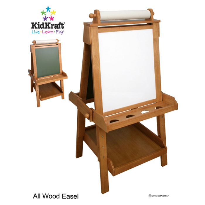 kidkraft staffelei tafel aus holz zum einstellen ebay. Black Bedroom Furniture Sets. Home Design Ideas