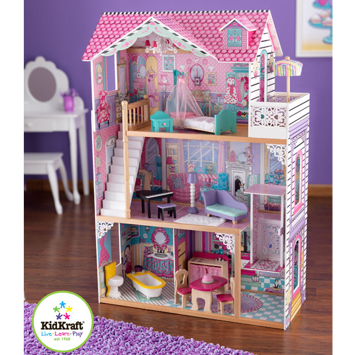 kidkraft puppenhaus annabella holz puppenstube ebay. Black Bedroom Furniture Sets. Home Design Ideas
