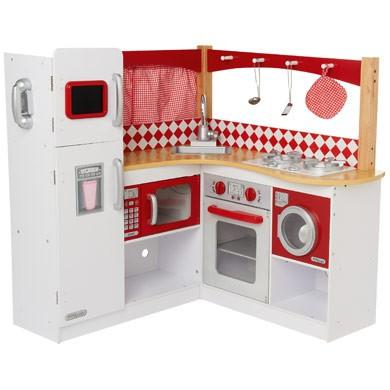 kidkraft große kinderküche spielküche grand gourmet rot aus holz,
