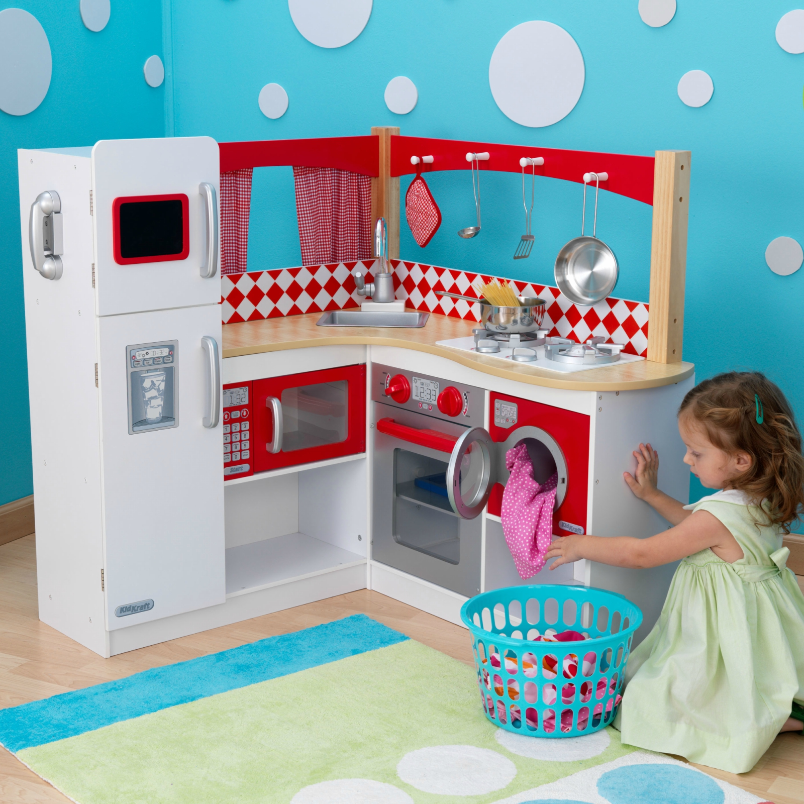 Cucine Per Bambini Kidkraft: Country kitchen imaginary play for kids wooden toys.