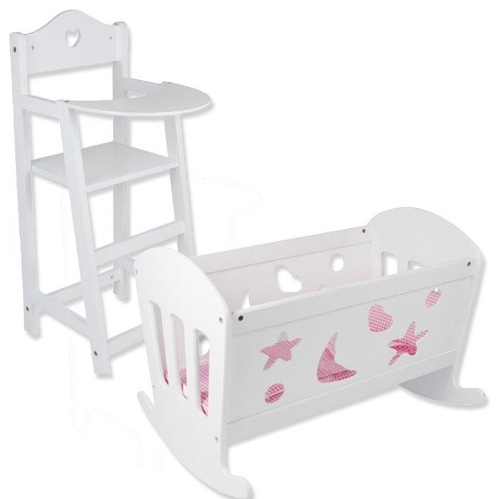 Möbel Weiß Puppenhochstuhl Babypuppen & Zubehör