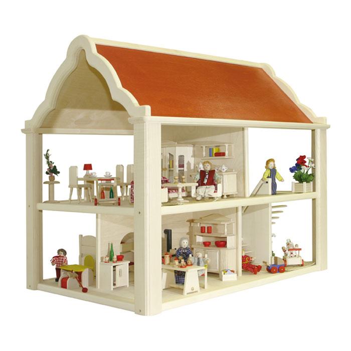 puppenhaus aus holz von janod. Black Bedroom Furniture Sets. Home Design Ideas