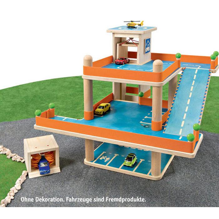 selecta parkgarage aus holz parkhaus f r kinder ebay. Black Bedroom Furniture Sets. Home Design Ideas