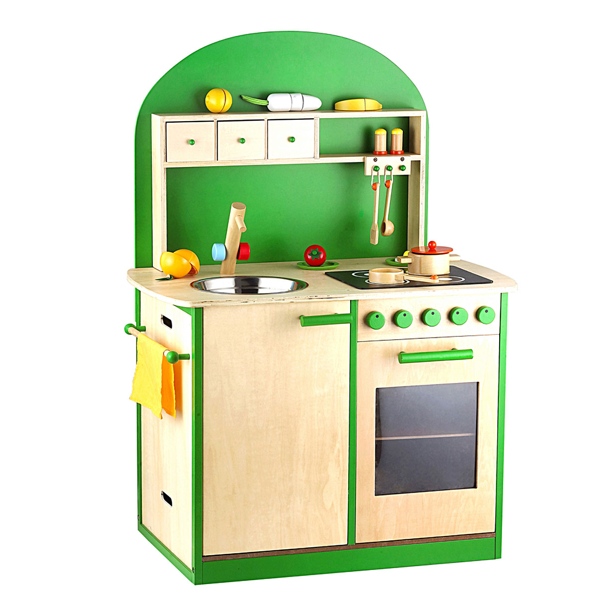 Sun Kinderküche Spielküche aus Holz grün