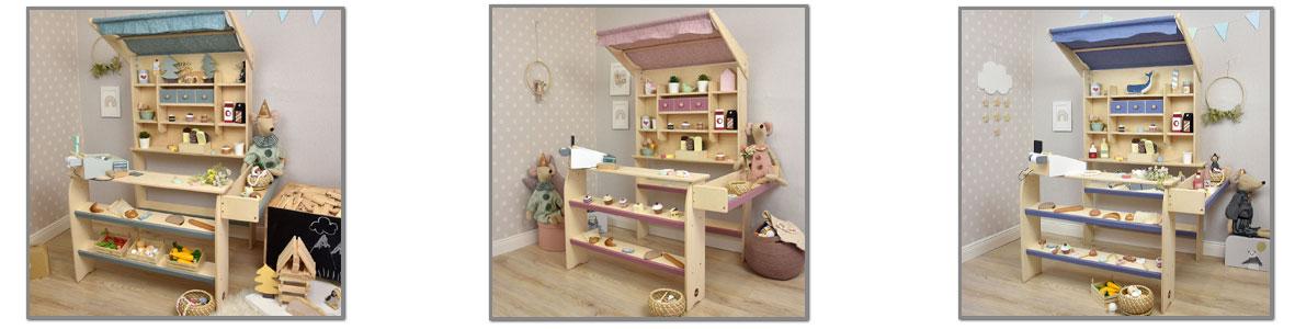 kaufladen aus holz für kinder | pirum-holzspielzeuge.de,