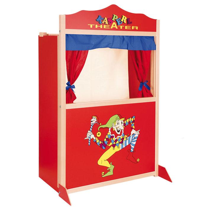 Kaufladen Holz Puppentheater ~ Kasperletheater als Spielzeug für die kalte Jahreszeit