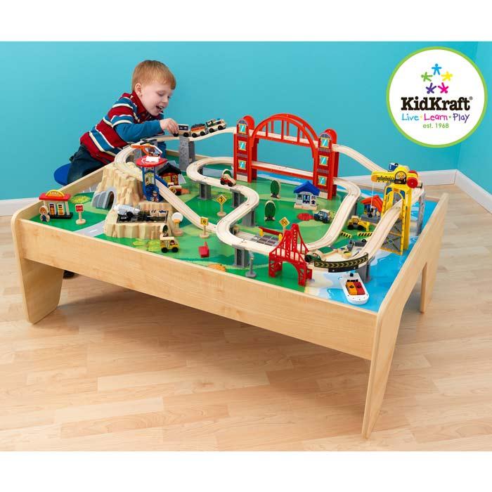 Spieltisch Eisenbahn hochwertiges holzspielzeug kidkraft bei pirum holzspielzeuge