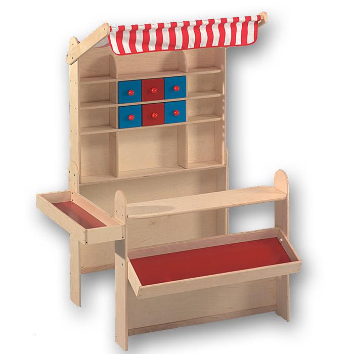 den kaufladen f r die kinder zum spielen im garten aufstellen. Black Bedroom Furniture Sets. Home Design Ideas