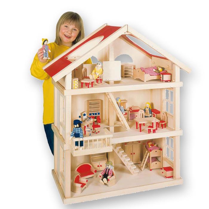 goki puppenhaus 3 etagen. Black Bedroom Furniture Sets. Home Design Ideas