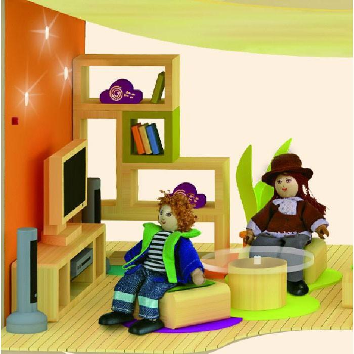 villa sonnenschein puppenhaus mit solarpanel. Black Bedroom Furniture Sets. Home Design Ideas