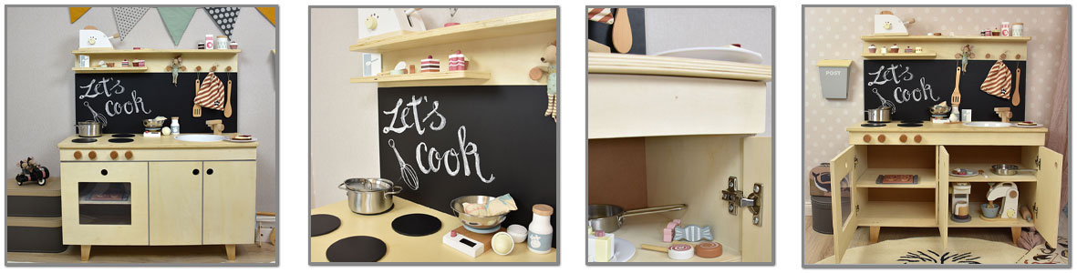 Cocinas infantiles de madera