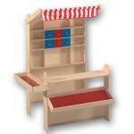 Kaufladen aus Holz mit Markise