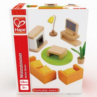 Hape Poppenhuis Televisiekamer - E3452
