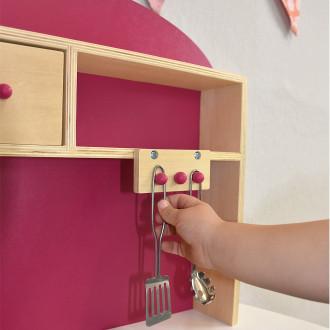 Sun children's kitchen white-pink 04124 | Pirum