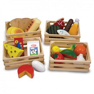Melissa & Doug Food Groups - Wooden Play Food 10271