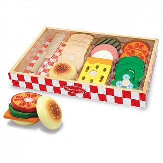 Melissa & Doug 10513 Wooden sandwich making set