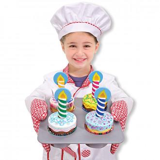 Melissa & Doug set cup cake personalizzabili con pennerelli e candele