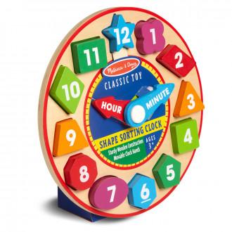 Melissa & Doug Horloge de tri de formes