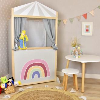 Meppi teatro delle marionette arcobaleno grigio