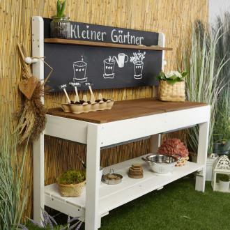 Meppi Boue de cuisine Petit jardinier, blanc - marron