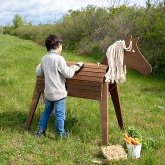 Meppi cavallo in legno per giardino
