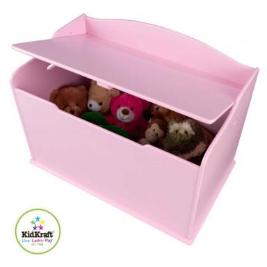 KidKraft Coffre à jouets Austin, couleur rose 14957