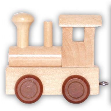 Buchstabenzug Lokomotive