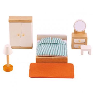 Hape Puppenhausmöbel Elternschlafzimmer