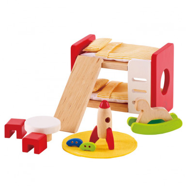 Hape Poppenhuis meubels kinderkamer - E3456