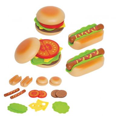 Hape Hamburger i Hot Dog - E3112