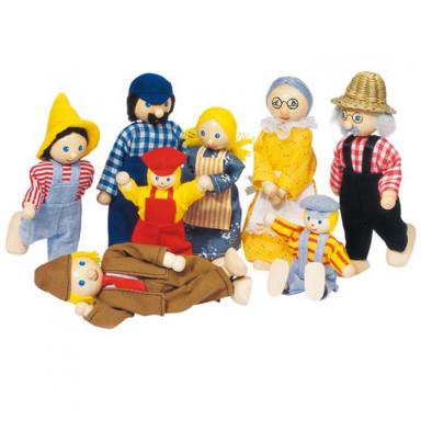 Goki Wyginające się laleczki — Rodzinka ze wsi