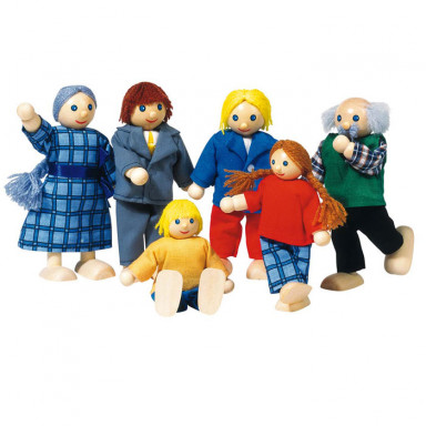 Goki Bendy dolls, city family