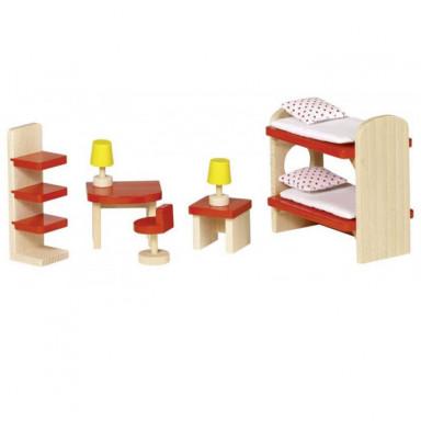 Goki Meble do domku dla lalek — Pokój dziecięcy Basic