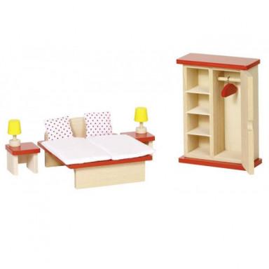 Goki Puppenhausmöbel Schlafzimmer Basic