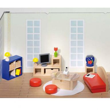 Goki stanza da letto casa delle bambole