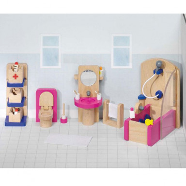 Goki Meble do domku dla lalek — Łazienka Design
