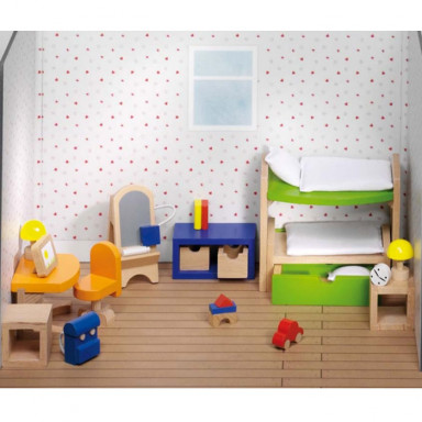 Goki poppenhuismeubeltjes kinderkamer Design