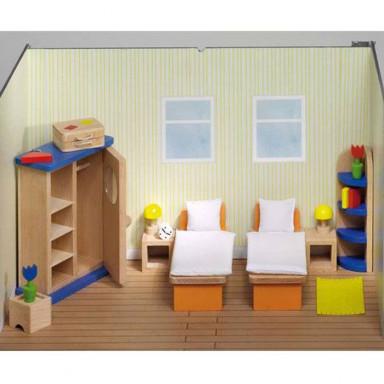 Goki poppenhuismeubeltjes slaapkamer Design