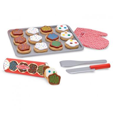 Melissa & Doug 14074 Wooden slice and bake cookie set