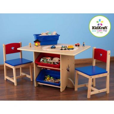 KidKraft Tisch- und 2-Stühle-Set Sternchen - AUS RETOURE (2)