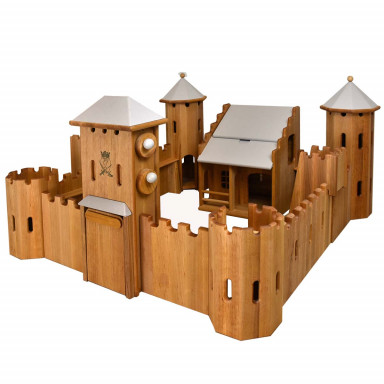Drewart große Ritterburg aus Holz , grau