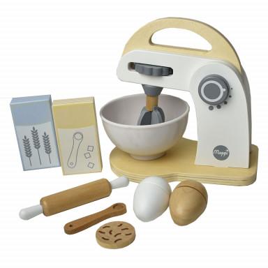 Meppi Zestaw – mikser i akcesoria z drewna – sprzęt domowy do kuchni dziecięcej
