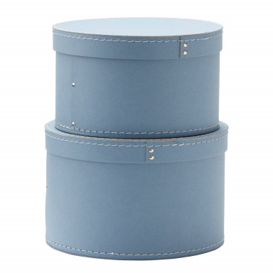 Kids Concept Aufbewahrungsboxen rund, blau