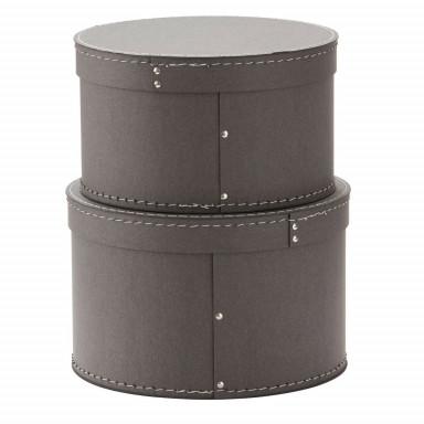 Kids Concept Aufbewahrungsboxe rund grau 2er-Set