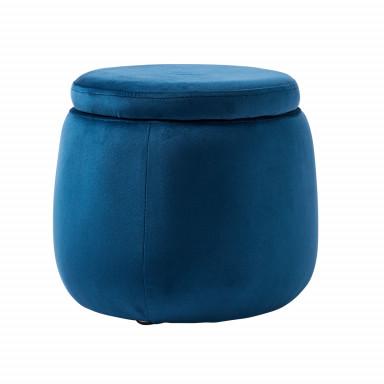 Kids Concept Sitzkiste rund Samt blau