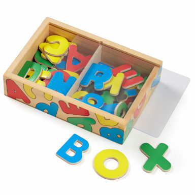 Melissa & Doug 52 aimants alphabet en bois
