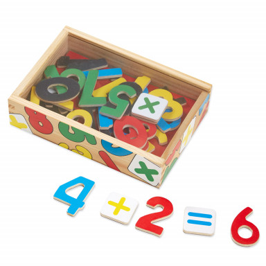 Melissa & Doug 37 magneti di legno a forma di numeri e simboli