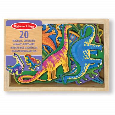 Melissa & Doug 20 aimants dinosaures en bois